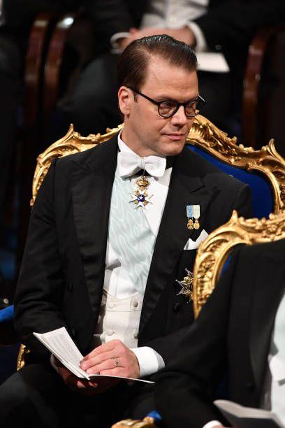 Prince Daniel of Sweden attends the Nobel Prize Awards Ceremony 2018 at Concert Hall in Stockholm, Sweden.