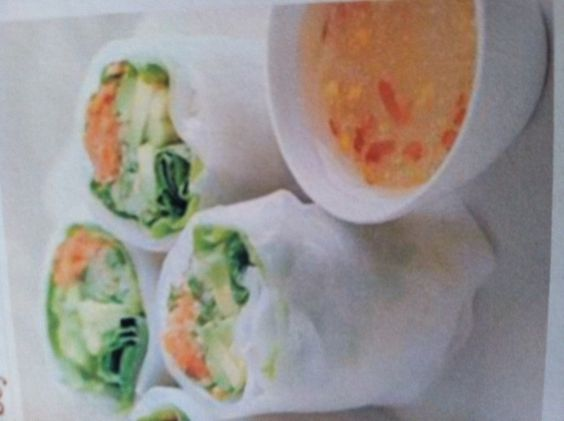 Cucumber and Avocado Summer Rolls with Mustard-Soy Sauce photo