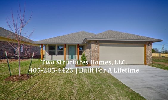 Calm Springs Plan ElevationBeautiful Yukon me. Call Kaitlin at (405) 757-8497 for a personal tour or for more information. High Performance new home built using NAHB Building Standards. Features include fully footed monolithic foundation, high definition lifetime shingles, HERS rated and Certified to OG&E's Positive Energy standards, 95% high efficiency furnace and 14 SEER A/C. Visit our brand... View Article #newhome #forsale #yukon #highperformance #home #twostructureshomes