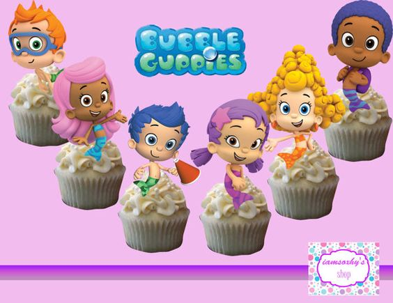 Bubble Guppies Cakepop/Cupcake topper by iamsoxhy on Etsy