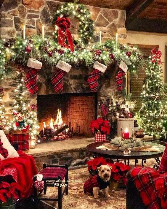 Decorating Diy Christmas Fireplace Christmas Mantel Decorations