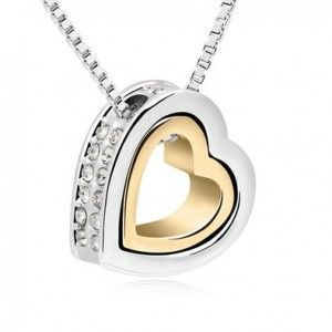 Mondaynoon Swarovski Elements Crystal Pendant Necklace for Women Forever Love,heart Shape  For more info: http://stuffwomenlikes.com/mondaynoon-swarovski-elements-crystal-pendant-necklace-for-women-forever-loveheart-shape/