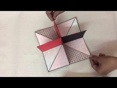 Square Circular Pop Up Card Youtube Cards Fancy Fold Cards Square Card