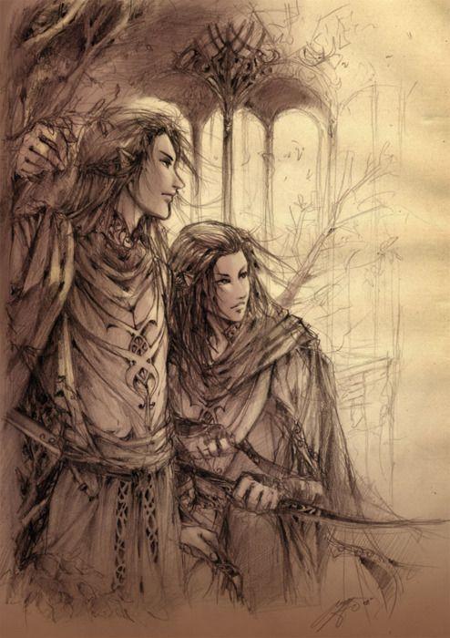 Elladan and Elrohir by brilcrist