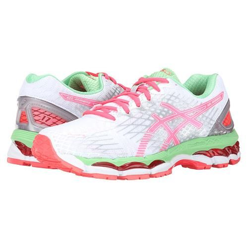 Asics Gel Nimbus 17 Womens Running Shoe White Hot Coral