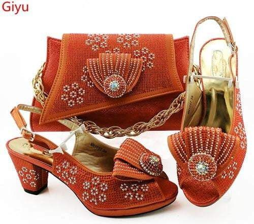 Italian Peach Shoes With Matching Bags African Women Shoes And Bags Set For Prom Party Summer Sandal Hbz1 23 Peach Shoes Women Shoes Fashion High Heels