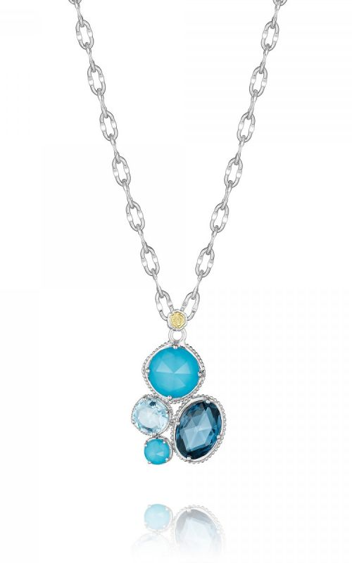 December: Topaz, Turquoise, Quartz stones add glimmer to the already alluring necklace.