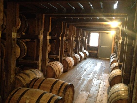 Barrel house full of bourbon at Willet Distillery, Kentucky.