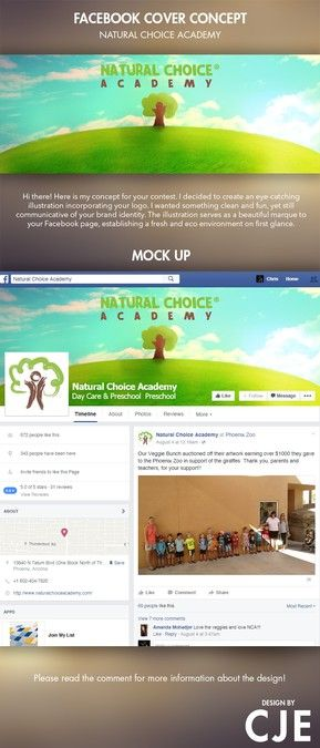 Create a natural looking Facebook cover for my preschool business. by Chris…
