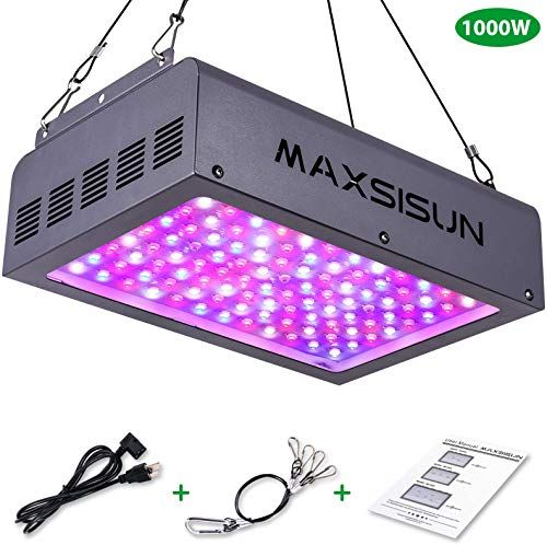 New Maxsisun 1000w Led Grow Light Full Spectrum Led Grow Lights Indoor Plants Veg Flowering Hydroponic Growing System Plant Growing Lamps Cover 2 2x2 2ft In 2020 Led Grow Lights Grow Lights
