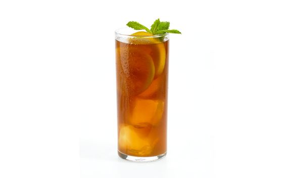 Let a refreshing drink of mint tea cool off the heat of summer.