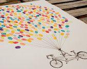 art auction thumbprint ballons