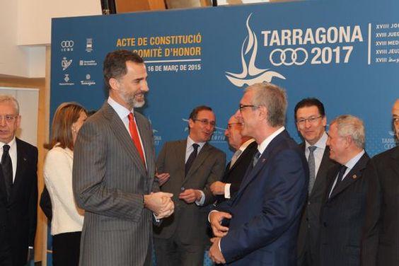 Foro Hispanico de Opiniones sobre la Realeza: El Rey Felipe, en la constitución del Comité de Honor de los Juegos Mediterráneos. 16/3/2015
