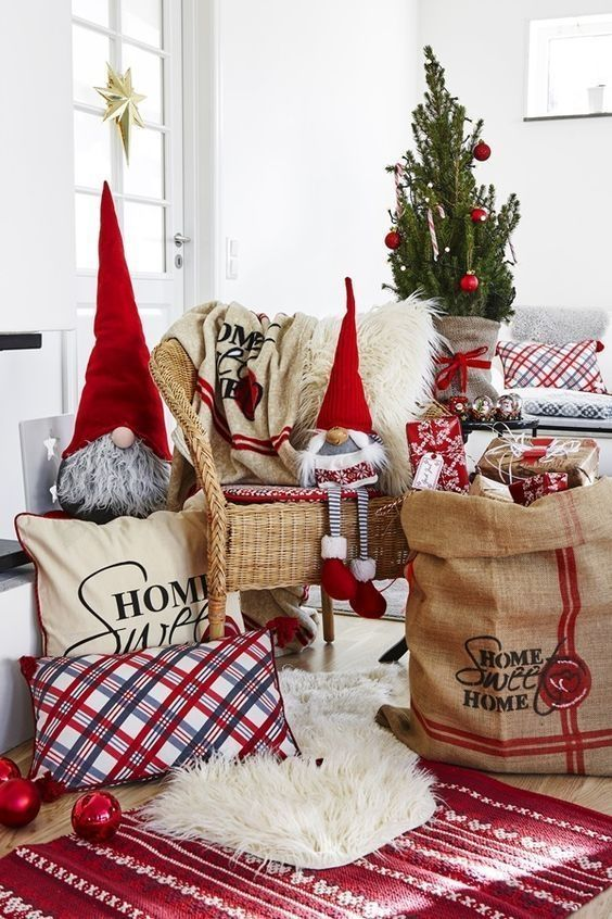 30 Scandinavian Living Room Ideas With Small Christmas Tree Homeridian Com Scandinavian Christmas Decorations Christmas Decor Diy Bohemian Christmas Living room xmas decor ideas