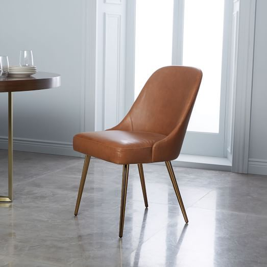 Finley Low Back Upholstered Dining Chair Leather Dining Chairs