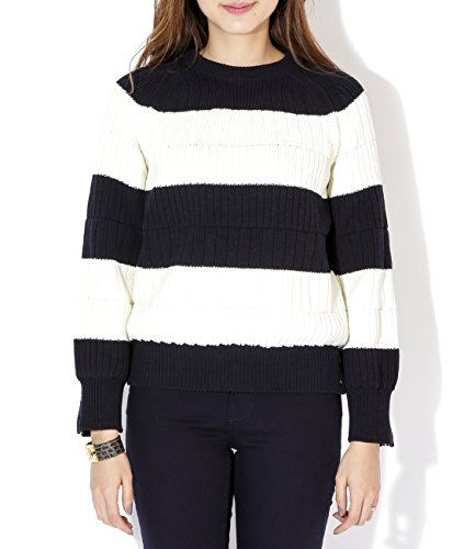 Wiberlux Thom Browne Women's Knit Stripe Pullover 3 Ivory and Navy Wiberlux http://www.amazon.com/gp/product/B018V9M3J2/ref=as_li_qf_sp_asin_il_tl?ie=UTF8&camp=1789&creative=9325&creativeASIN=B018V9M3J2&linkCode=as2&tag=divinetreas03-20&linkId=PM3WUI42PC65WSSG
