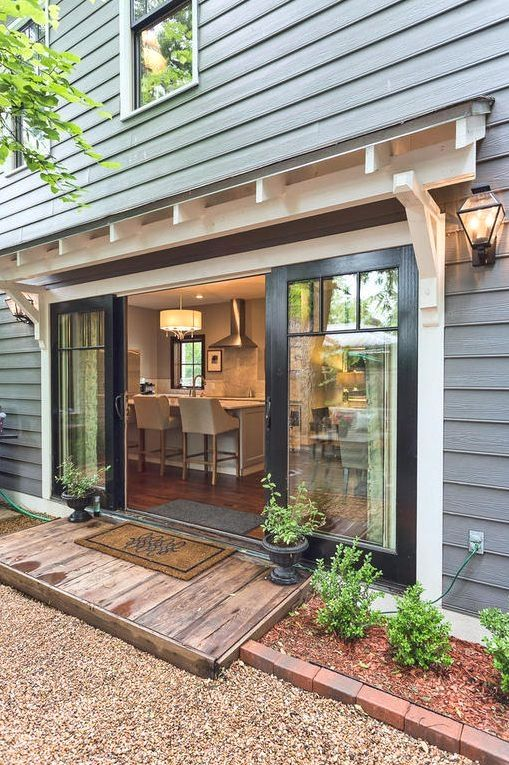Ideas For Garage Door Conversion And Pics Of Garage Doors Colors Garage Garagedoors Garageorganization 1920s House House Exterior Modern Farmhouse Exterior