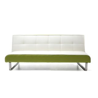 Seattle White And Green Futon Sofa Bed Com Ping The Best Deals