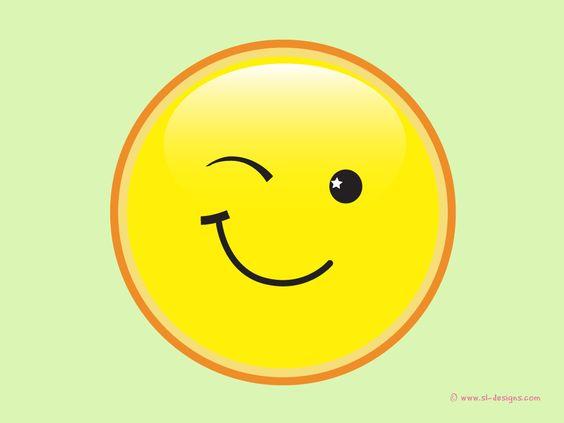 Winking Smiley On Green Desktop Wallpaper Cute Smiley Face Animated Smiley Faces Love Smiley