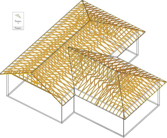 Room Addition With An Existing Gable Roof Roof Trusses Roof Truss Design Roof Framing