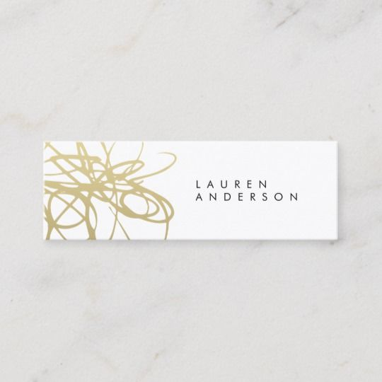 Black And Gold Brushstrokes Skinny Business Card Zazzle Com Classic Business Card Business Card Template Design Business Cards