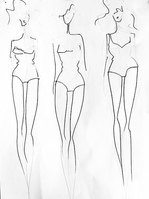 How to make a template for fashion design based on your own body - blank fashion design templates
