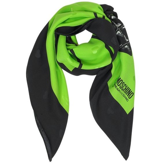 Moschino Square Scarves Chic Dino Handbag Jacquard Silk Square Scarf ($94) ❤ liked on Polyvore