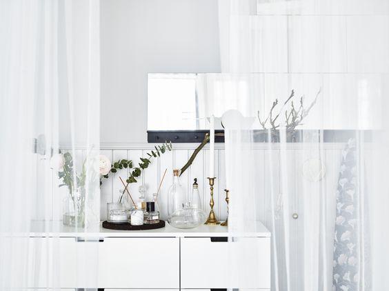 ... IKEA #IKEAnl #inspiratie #slaapkamer #wit #accessoires #gordijn #LILL
