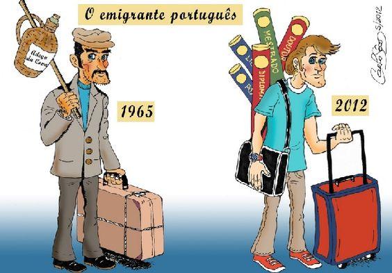 O atual emigrante português (autoria: Carlos Sêco)