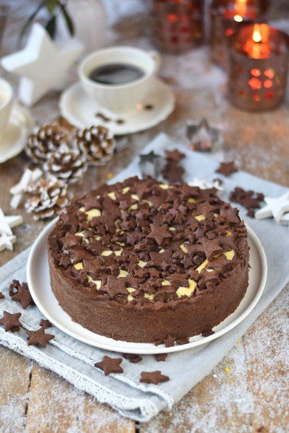 Winterlicher Zupfkuchen - Baked Cheesecake with Chocolate Cookies   Das Knusperstübchen