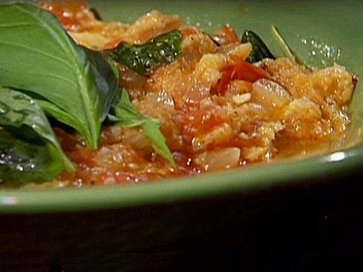 Tuscan Pommodoro Soup (Rustic Tomato Soup) recipe from Emeril Lagasse via Food Network