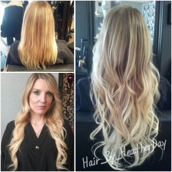 Blonde Chunky Bangs Brunette 24 Long Fusion Extensions Hair By