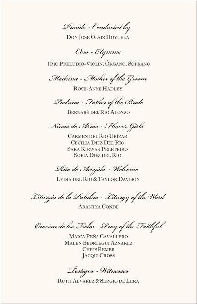 Religious Wedding Invitation Wording In Spanish
