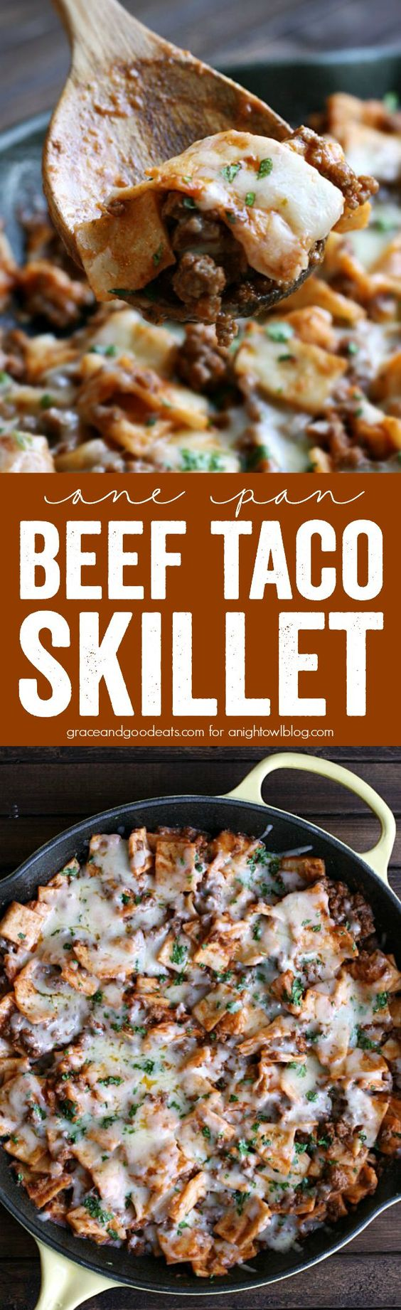 One Pan Beef Taco Skillet | Recipe | Skillets, I am and Tacos