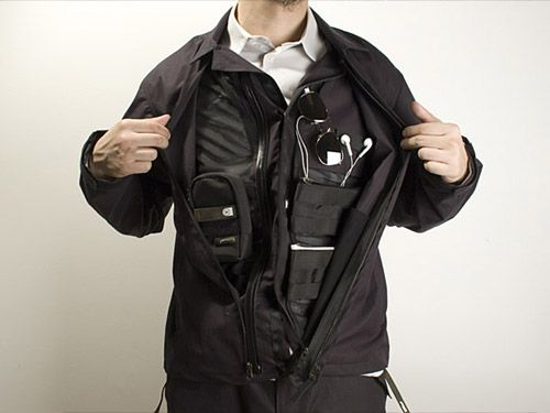 Limited edition stealth jacket by Acronym. All of the inner pockets are hidden by the outer lining