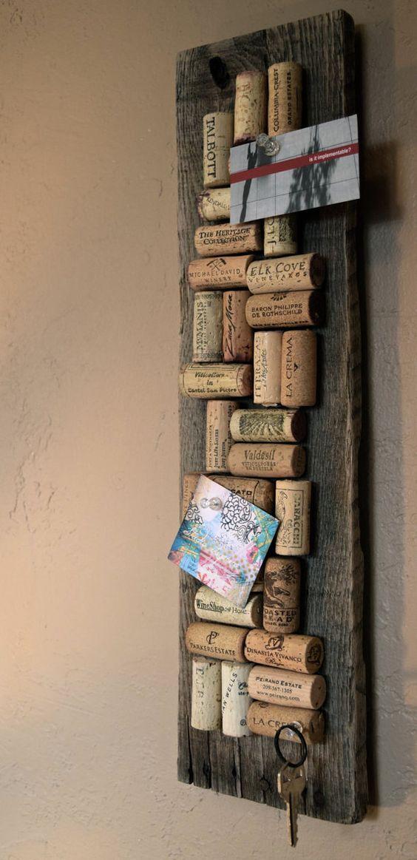 Wine Cork Bulletin Board // Get organized by ColoradoCorkCreative
