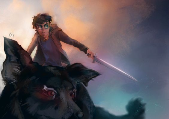 Really wanted to draw Percy for a long time, so here he is, arriving on the battlefield like a boss ! And with Mrs. O Leary, 'cause it's a damn hell hound *edit: Kitty O Leary is the name used in the french version of the books ;)