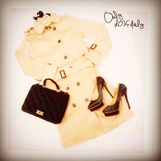 「2WAYトレンチ #accessory #necklace #shoes #poms #bag #2way #outer #trench #old #onlylovedaily」