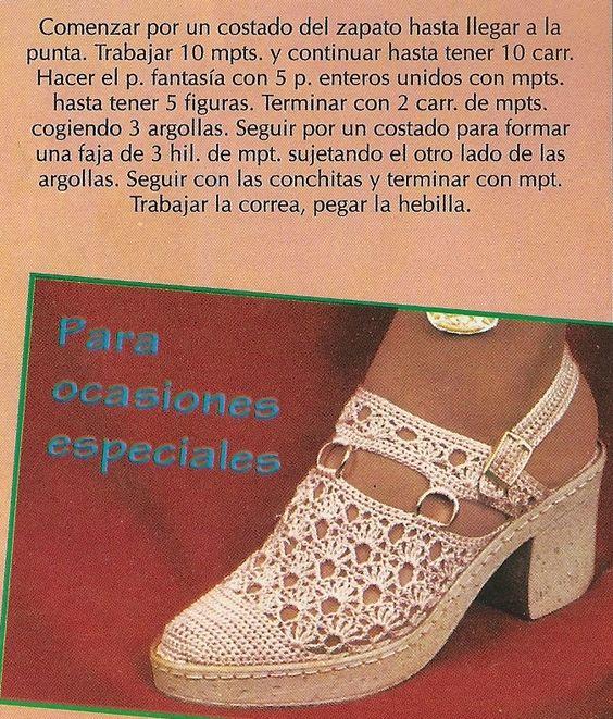 DE MIS MANOS TEJIDOS Y MAS...: calzados a crochet