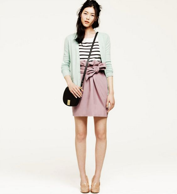 Cute pastels with a nice stripe touch.