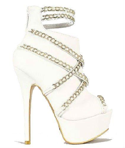 Stilettos, Gold and Platform stilettos on Pinterest
