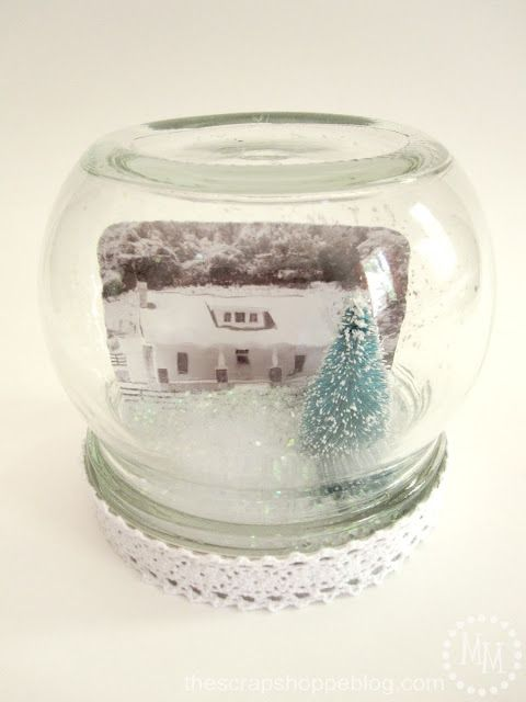 The Scrap Shoppe: {Workshop Wednesday} Personalized Snow Globe