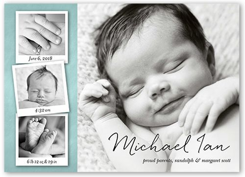 Hi BIRTH ANNOUNCEMENT Photo Baby Announcement Baby Girl – Boy Birth Announcement