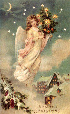 Vintage Angels - Angels - Vintages Cards - Christmas Wallpapers, Free ClipArt for Xmas, Icon's, Web Element, Victorian Christmas Photos and Vintage Santa Claus pictures: