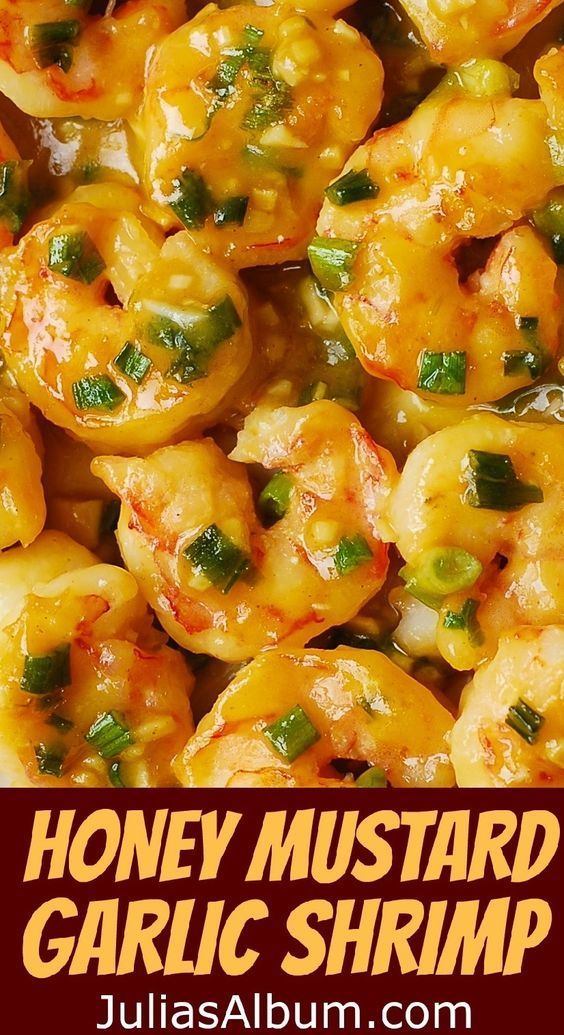 Honey Mustard Garlic Shrimp