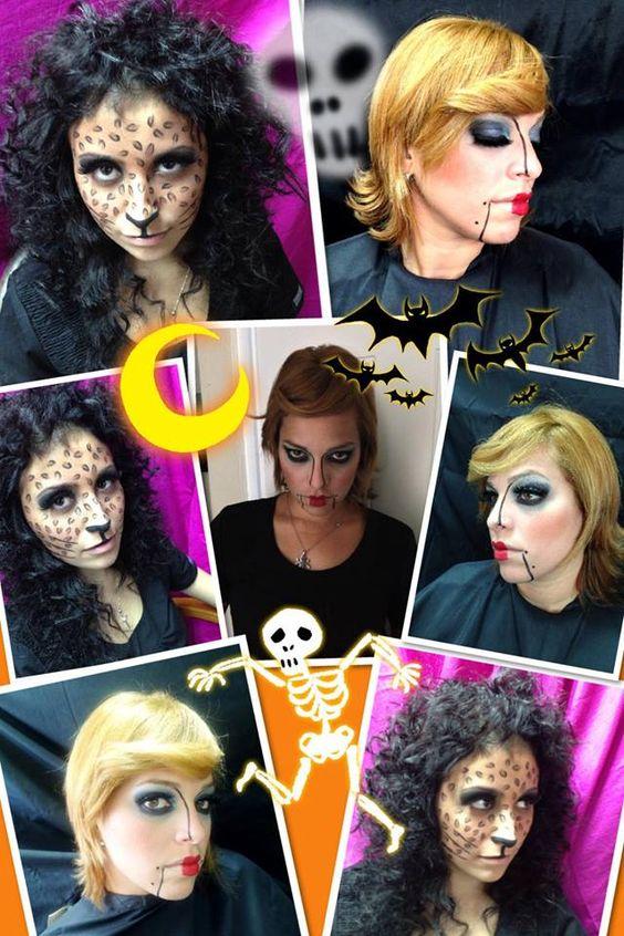 Peinados y maquillajes para todo tipo de fiestas.... si hasta para #Hallowen.