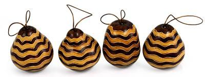 Mate gourd ornaments, 'Dance' (set of 4) by NOVICA