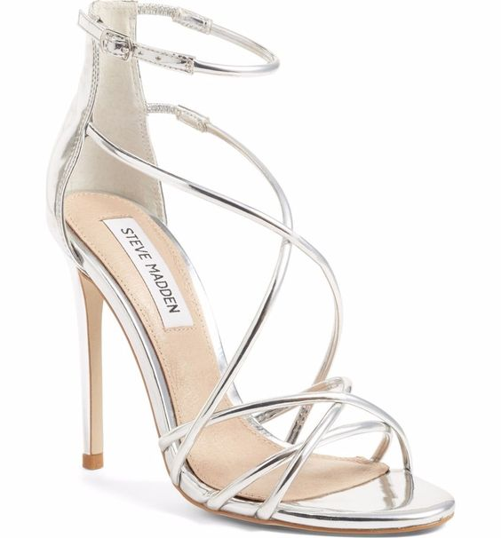 Silver high shoes - Satire Strappy Sandal by Steve Madden