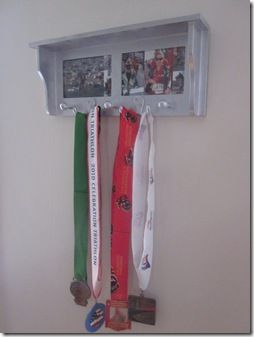 medal display with pictures