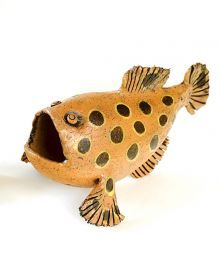 Frog Fish @ Moko Artspace #HotwaterBeach #CeramicArt #NZART